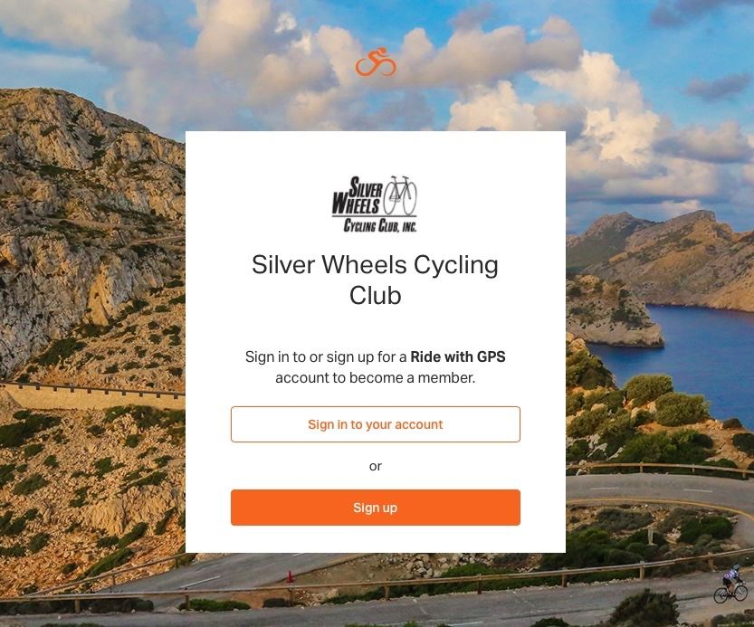 Silver Wheels Cycling Club - RWGPS Setup